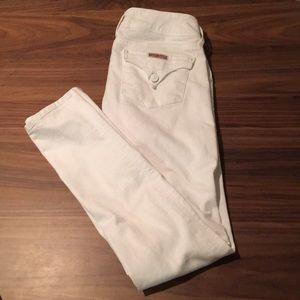 Hudson Collin Skinny Jeans in White Denim